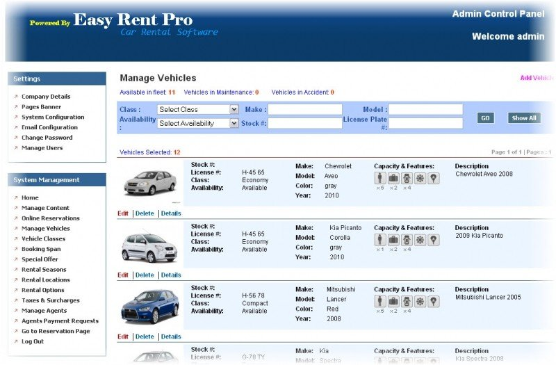 Easy Reservations Online Online Car Rental Software Systems